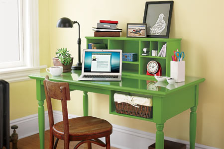 Make A Desk With Storage Cubbies