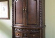 A Classic Armoire Makes For a Fancy Bedroom