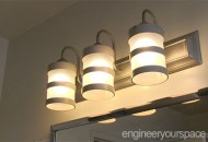DIY Bathroom Lights